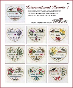 Victoria Sampler - International Hearts 1