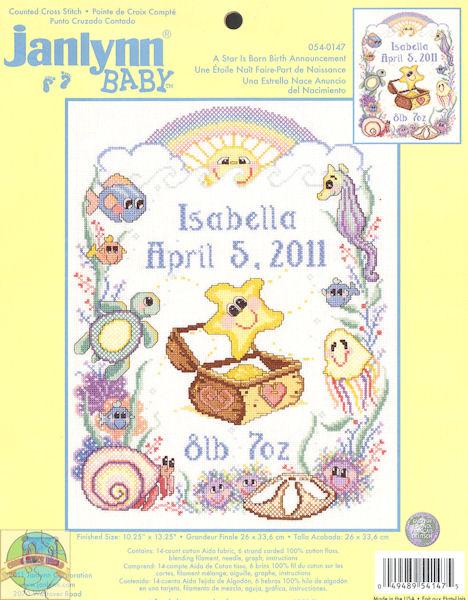 Birth Announcement Kits – Birth Announcement Cross Stitch